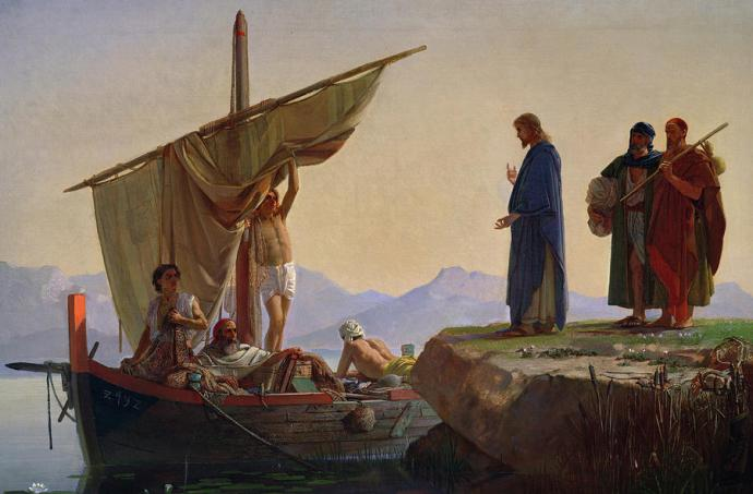 Edward Armitage Call of Apostles fishermen