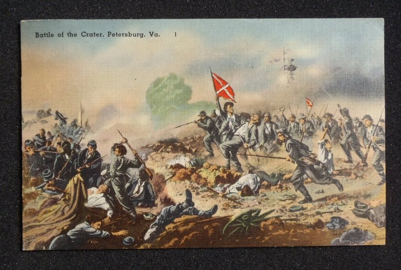 crater battle postcard