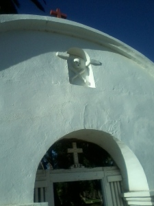 Cemetery entrance at San Luis Rey Mission, Oceanside CA