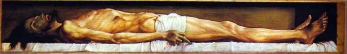 The Body of Christ Dead in the Tomb Hans Holbein