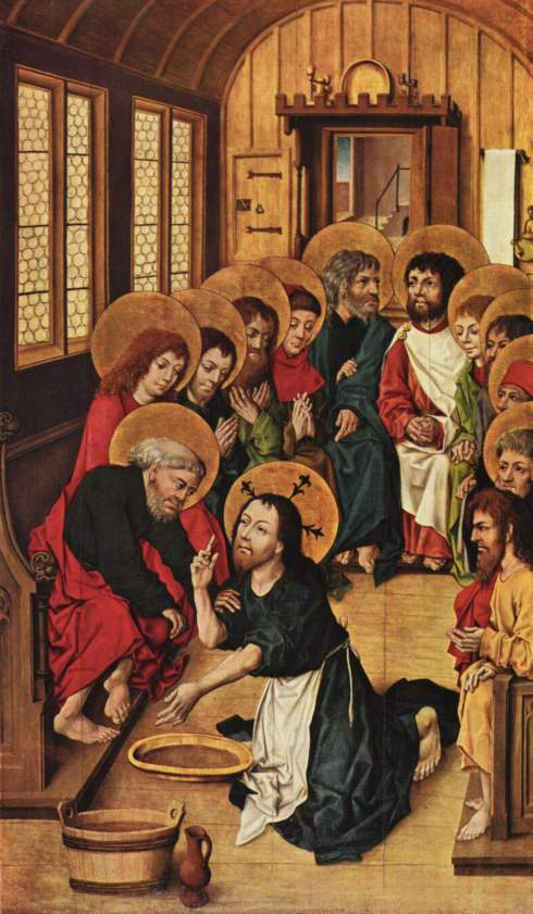 Christ mandatum footwashing Holy Thursday
