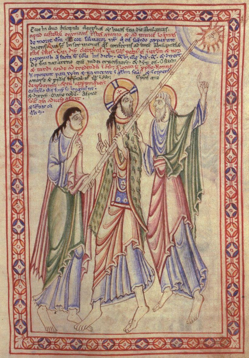 st albans psalter road to emmaus