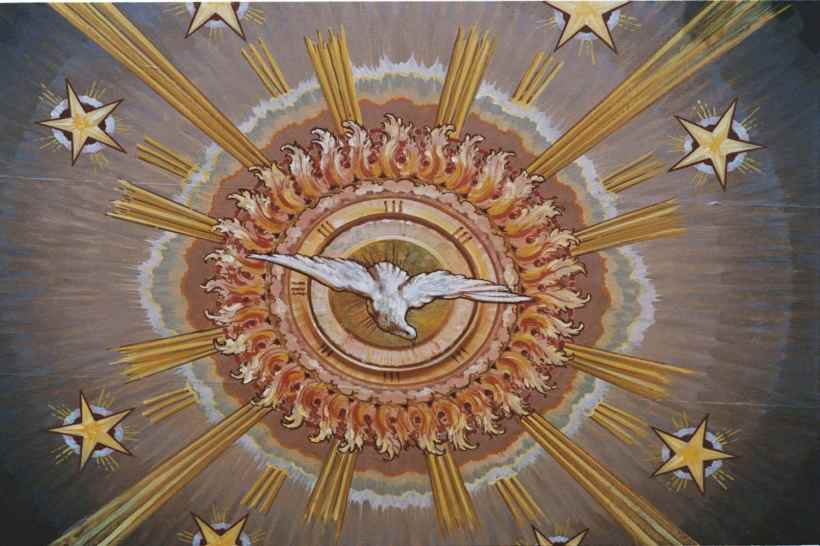 Holy Spirit dove sun