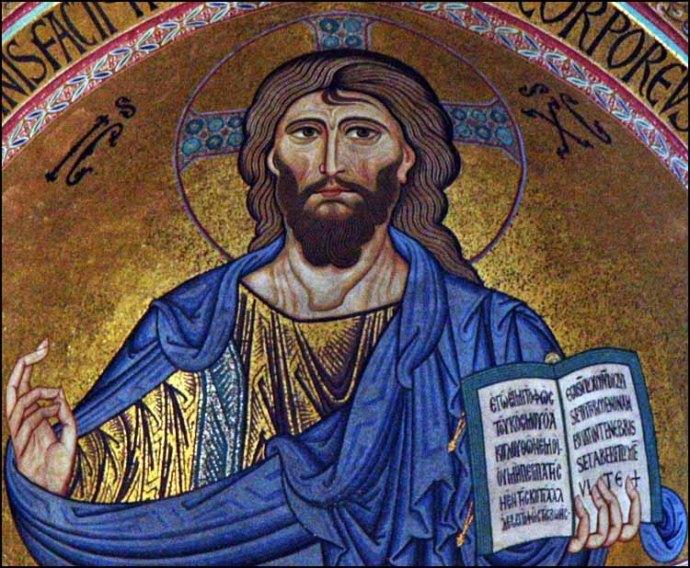 Palermo Pantocrator Christ priest