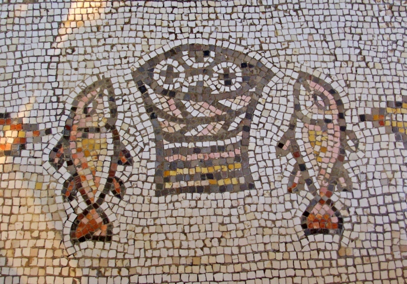 tabgha loaves fishes multiplication mosaic