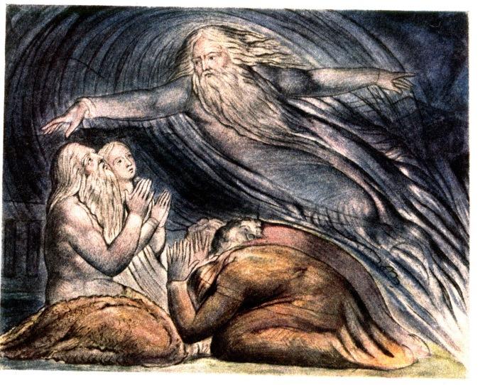 God answers Job, by William Blake
