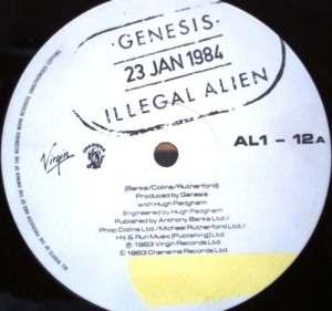Genesis Illegal Alien cd