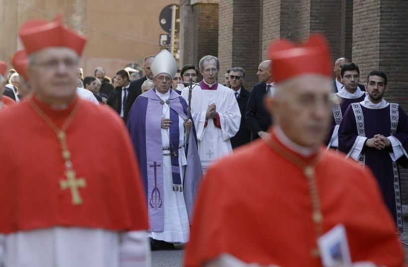 Pope Francis Ash Wednesday procession