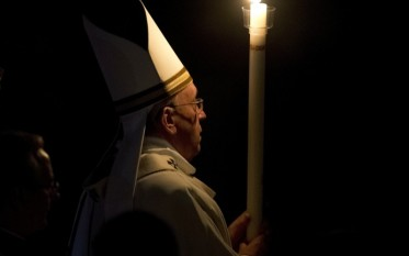Pope Francis Easter candle