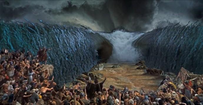 Ten Commandments Charlton Heston Red Sea