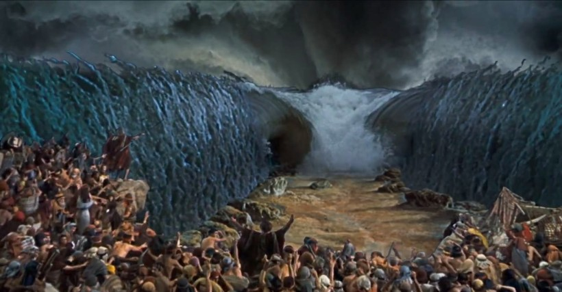 Ten Commandments Charlton Heston Red Sea