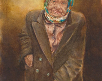 Grim Babushka painting anon artist