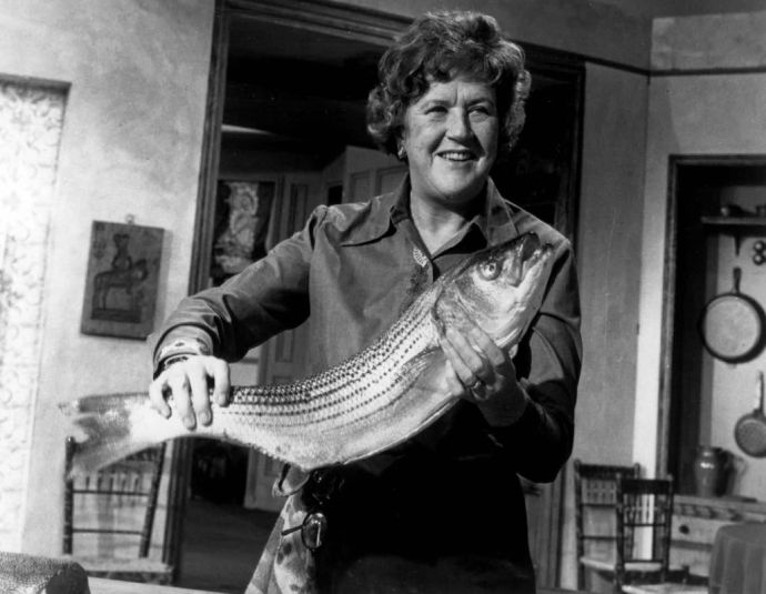 11-1988  Julia Child, America's most beloved Francophile, returns to PBS in 39 weekly adventures in Haute Cuisine selected from her Emmy Award-winning series, The French Chef. The informative fun begins ___ at ___ on Channel ___ . (PBS Premiere: Sunday, October 9 at 7 P.M.)