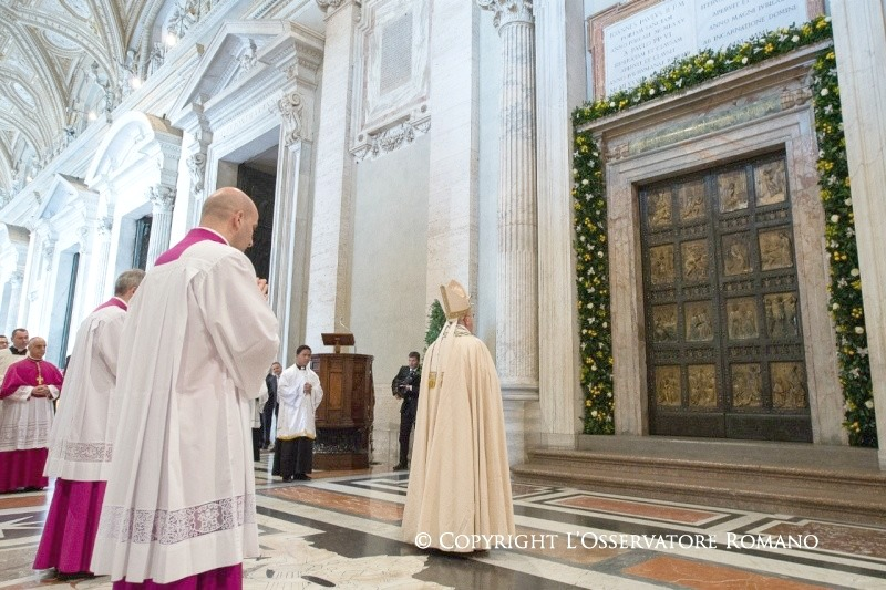 Pope Francis at Holy Door St Peters
