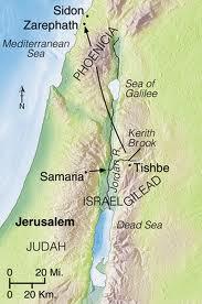 Elijah map Zarephath