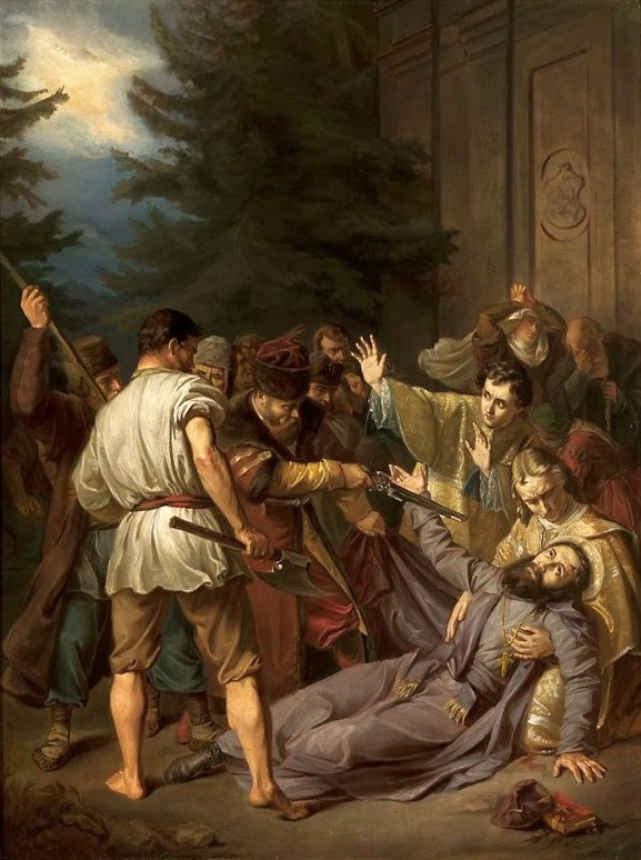 Martyrdom of St. Josaphat by Jozef Simmler