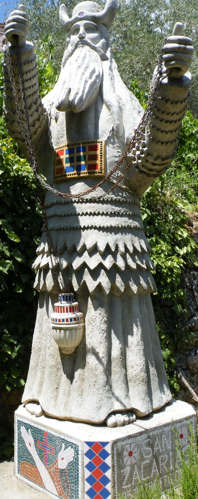 In the hill country of Judah, they have the ugliest statue of Zecahriah in the world