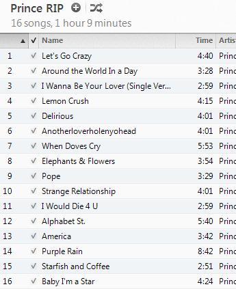 Better Prince Playlist