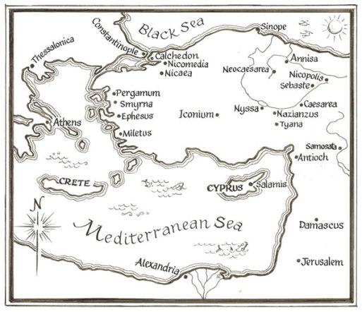 Asia Minor map w Nicaea