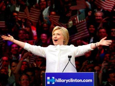 Hillary Clinton wins nomination