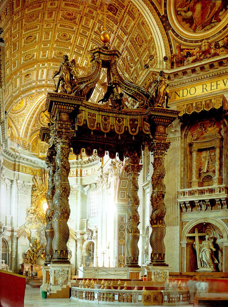 St Peters altar baldachino