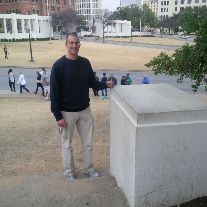 WPA-built plinth where Zapruder stood