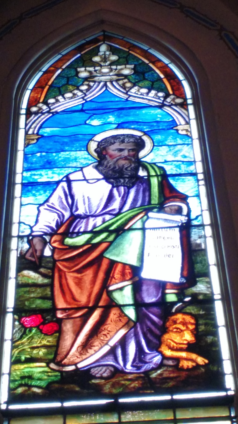 St Mark stained glass StA