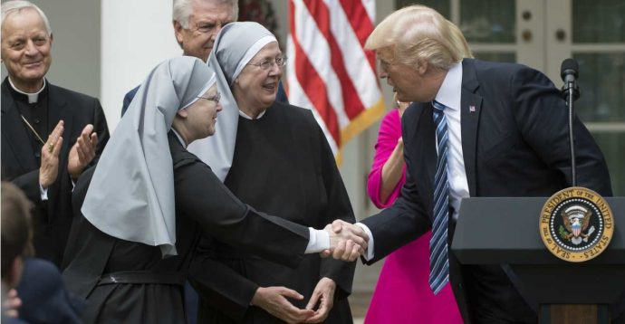 Trump Little Sisters Cardinal Wuerl White House religious freedom