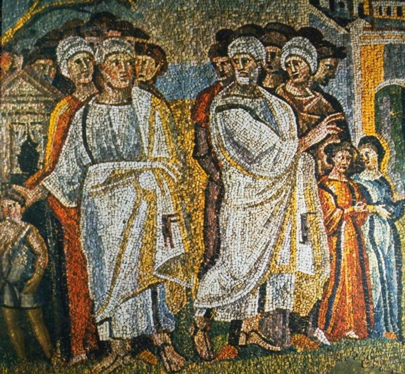 Abram and Lot part mosaic Santa Maria Maggiore