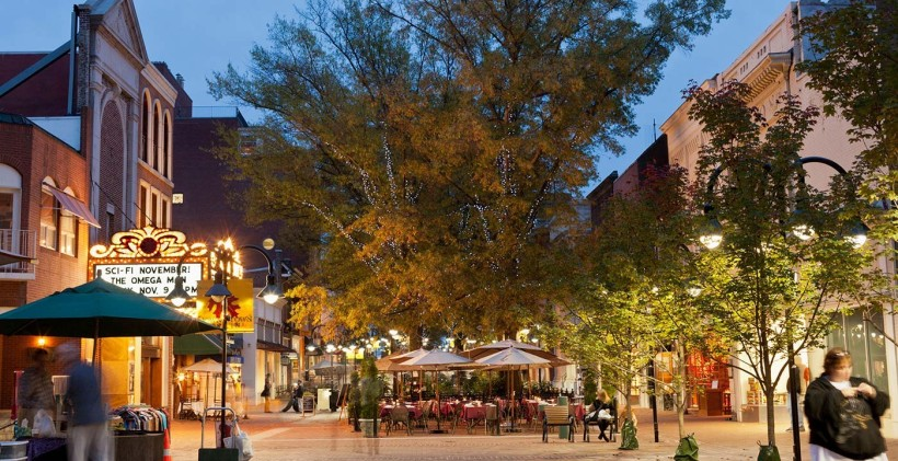 downtown Charlottesville mall