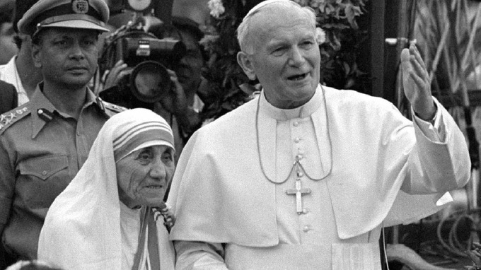 john paul ii mother teresa