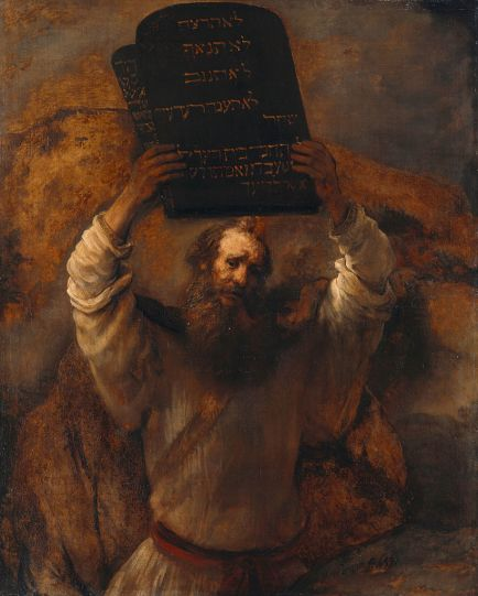 Rembrandt Moses Ten Commandments