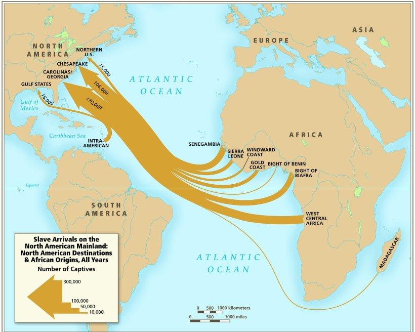 slave arrival USA