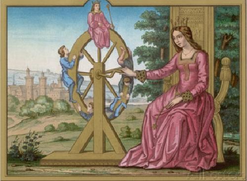 Fortuna and wheel