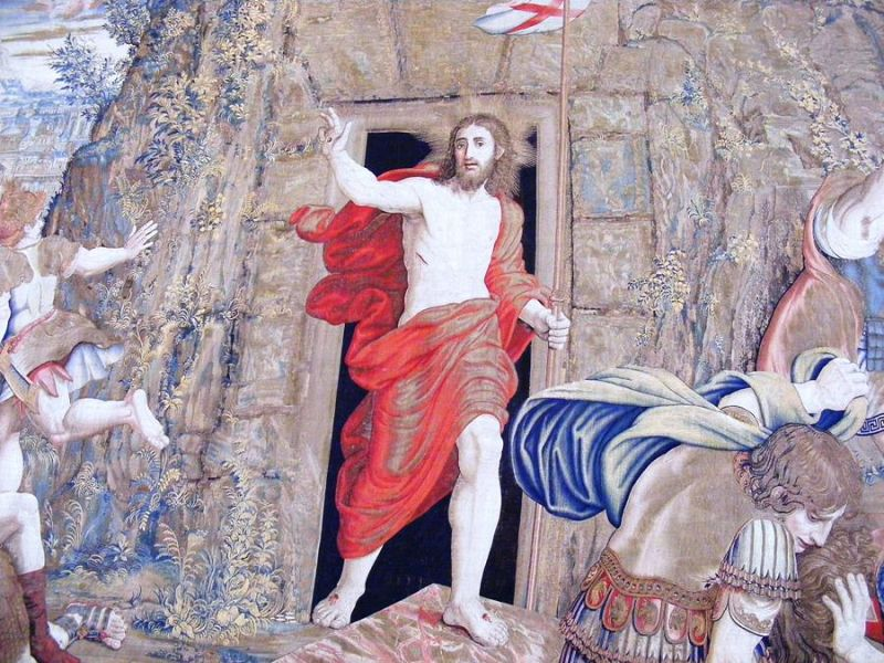 Resurrection tapestry Vatican Museums