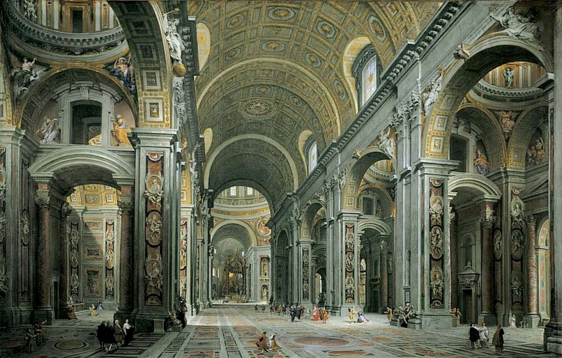 St-peters-basilica-interior-pannini