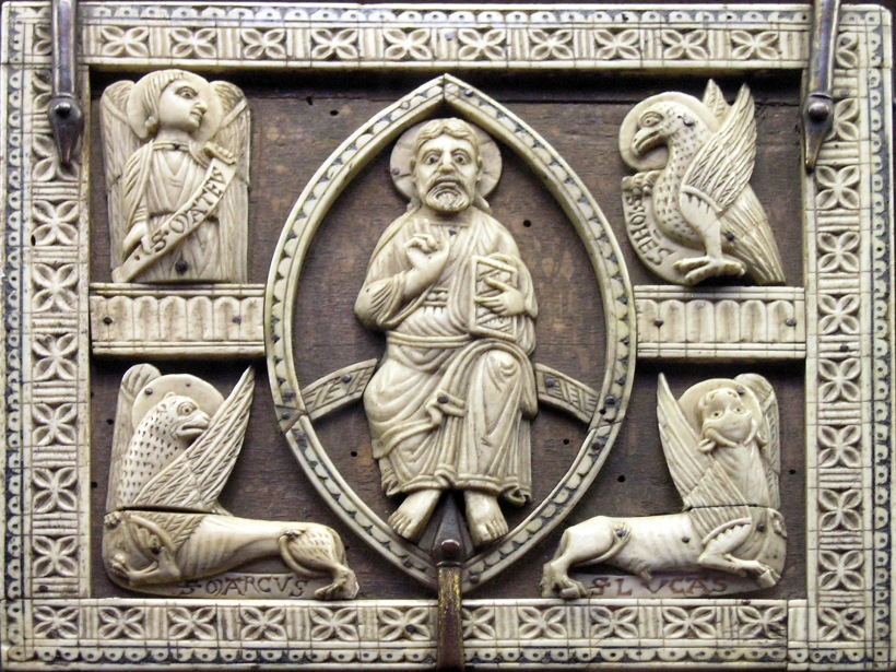four living creatures evangelists carving.JPG