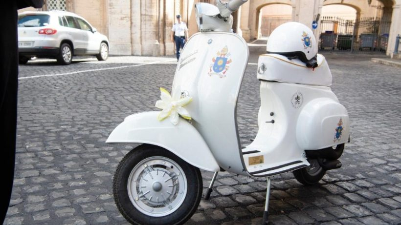 Papal Vespa scooter