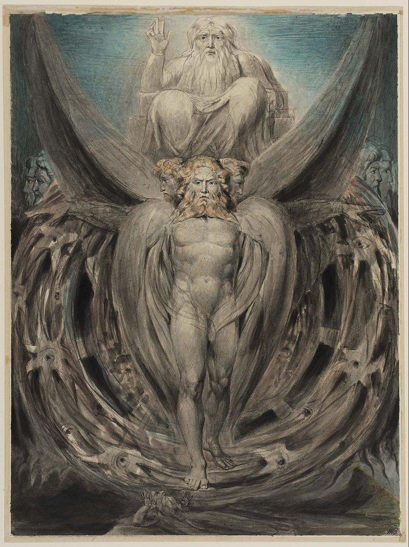 William Blake Ezekiel vision four living creatures