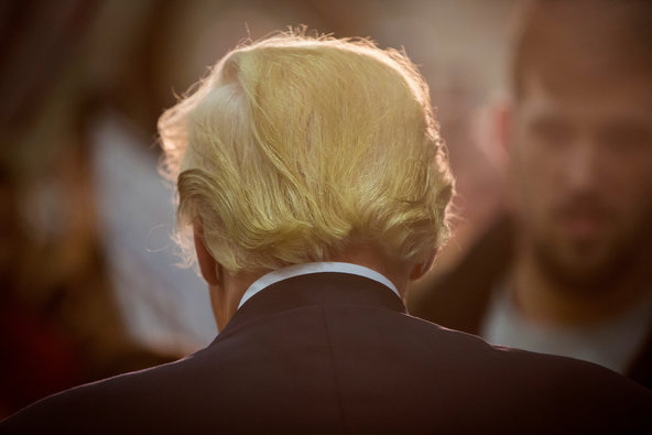 Donald Trump from the back