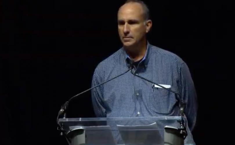 James Grein speaking in Baltimore