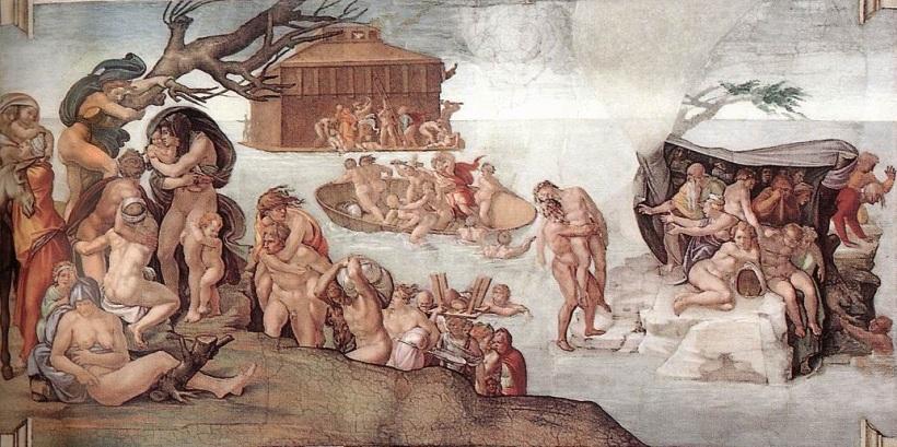 Michelangelo Flood Sistine Chapel