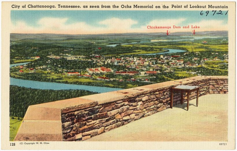 Lookout Mountain TN postcard Chattanooga