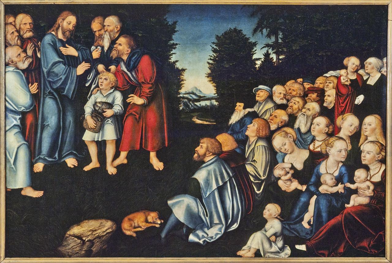Lucas Cranach Feeding Five Loaves