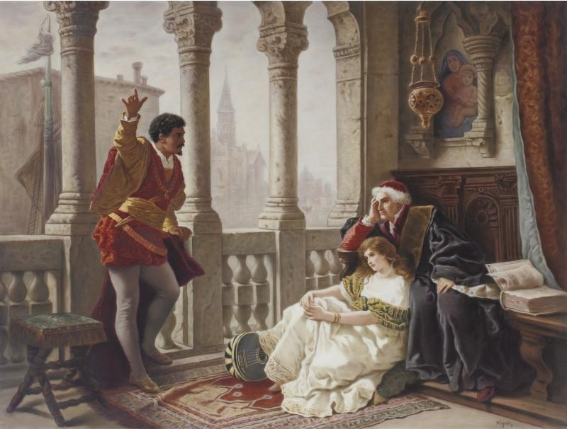 Othello relating his adventures to Desdemona by Becker