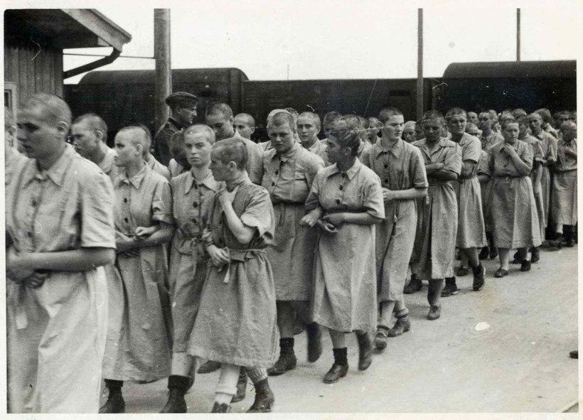 Women in Auschwitz May 1944
