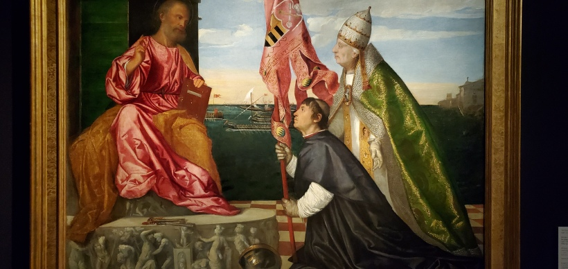 Venice and Pope Alexander VII offering isle of Lefkada to St. Peter
