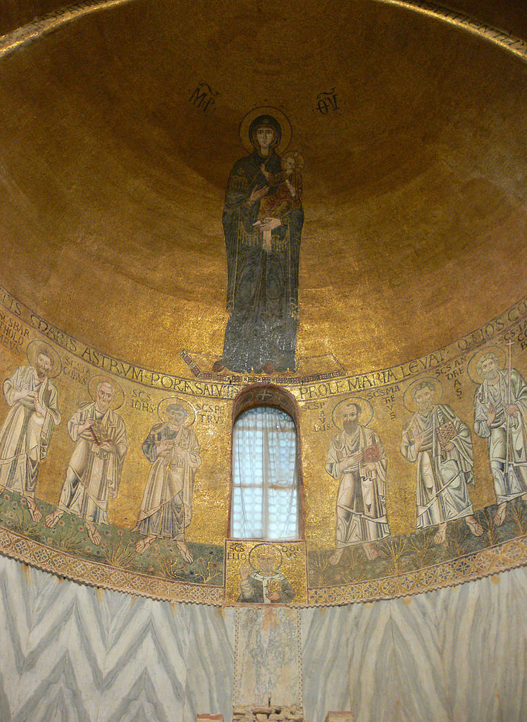 Torcello cathedral Venice apse mosaic Virgin Mother