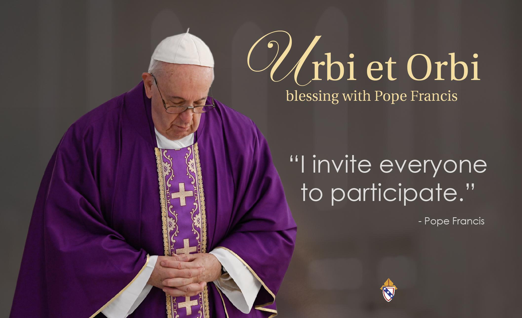Pope Urbi et Orbi Blessing