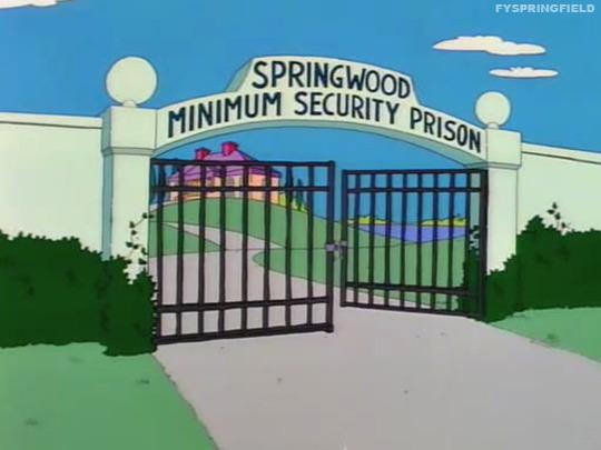 Springwood Minimum Security Prison the Simpsons